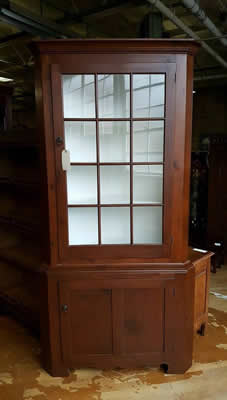 Kincaid Oak & Metal China Hutch