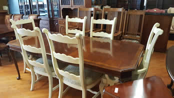 Thomasville Impressions Set of 6 French Style Dining Chairs and Table