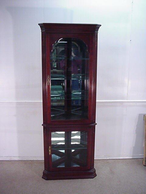 Ethan Allen Cherry Corner Curio Cabinet ...