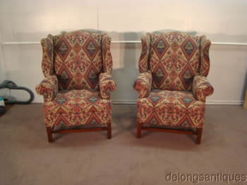 Harden Pair of Wing-Back Chairs