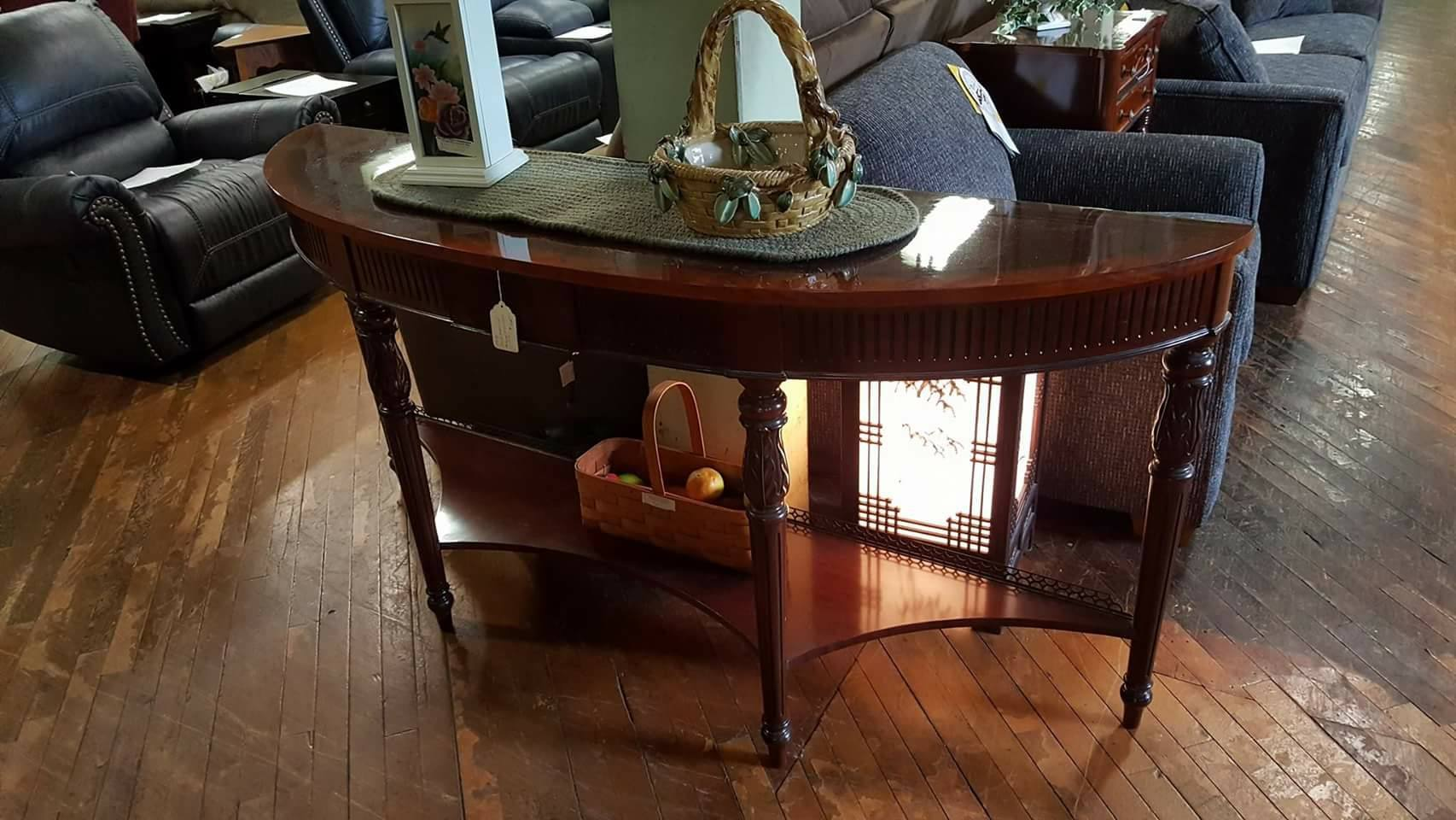 solid mahogany sofa table