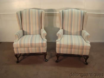 Pennsylvania House Pair of Wing-Back Chairs