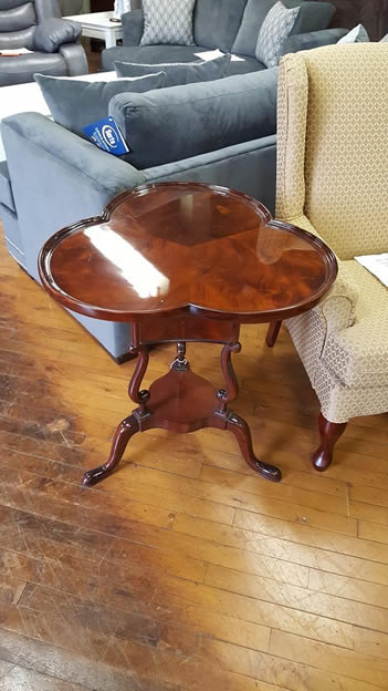 Solid mahogany end table