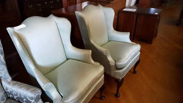 Hickory Chair Pair of Wing Back Chairs