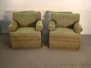 Ethan Allen Pair of Club Chairs