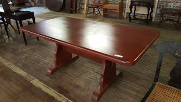 New Red Paint Farm Table